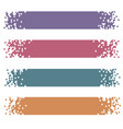 set of retro colored modern pixel banners for vector image vector image