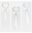 Set of Ties on transparent Background EPS 10 vector image
