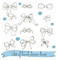 set of vintage colorless bows vector image vector image