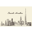 Skyline Saudi Arabia drawn sketch vector image vector image