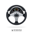 sport car steering wheel and dashboard on white vector image