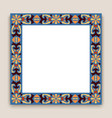 square frame with ornamental pattern vector image vector image