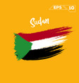 sudan flag brush strokes painted vector image vector image
