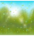 Summer rain background vector image