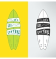 surfboard in cartoon graffiti design vector image vector image