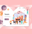 team website landing page design template vector image