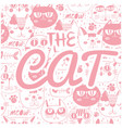 the cat pink cats background image vector image vector image