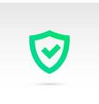 tick mark in shield icon vector image