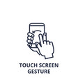 touch screen gesture line icon outline sign vector image vector image