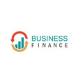trade business finance logo vector image vector image