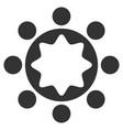 union corporation flat icon vector image vector image