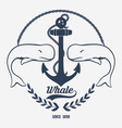 Vintage Whale Logo vector image vector image