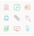 Web camera radio and mobile phone icons vector image vector image