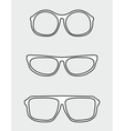 White glasses set vector image vector image
