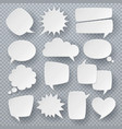 white speech bubbles thought text bubble symbols vector image