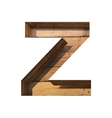 wooden cutted figure z Paste to any background vector image