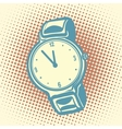 Wrist watch retro vector image