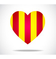Yellow and red heart vector image