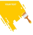 yellow brush background vector image