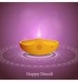 Diwali greeting card design vector image