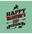 Valentines Day Card Vintage Border Background vector image