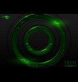abstract tech background with green elements vector image