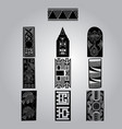 african ornaments collection vector image vector image