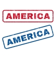 America Rubber Stamps vector image vector image