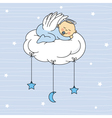 baby boy sleeping on a cloud vector image vector image