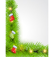 beutiful christmas background vector image vector image