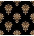 Black and beige floral seamless pattern vector image vector image