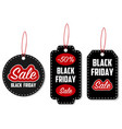 black friday sale tag set vector image vector image