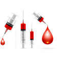 Blood drop and syringe vector image