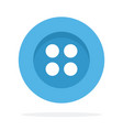 blue button with four holes flat isolated vector image vector image