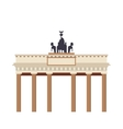 brandenburg gate icon vector image