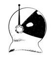cartoon spaceman helmet vector image