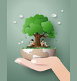 concept of ecology and environment vector image