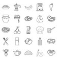 cook galley icons set outline style vector image vector image
