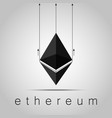 cryptocurrency ethereumstock vector image vector image