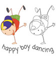 doodle boy street dance vector image