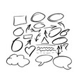 doodle frames and arrow collection vector image vector image