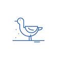 duck line icon concept duck flat symbol vector image