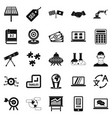 education technology icons set simple style vector image vector image