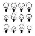 electric bulb set vector image