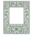 floral border or framewhite space in the centre vector image vector image
