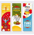 Funfair banners vector image vector image