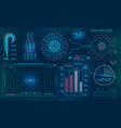 futuristic user interface hud fui technology vector image vector image