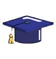graduation cap object vector image