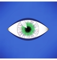 Green Eye Icon vector image vector image