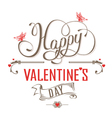 Happy Valentines Day Vintage label vector image